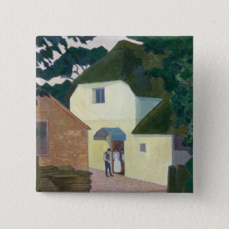 The Caller at the Mill (oil on canvas) Pinback Button