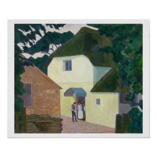 The Caller at the Mill (oil on canvas) Poster