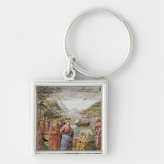 The Calling of SS. Peter and Andrew, 1481 Silver-Colored Square Keychain