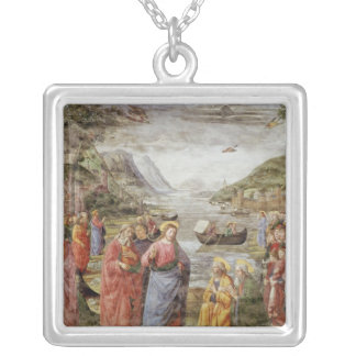The Calling of SS. Peter and Andrew, 1481 Square Pendant Necklace