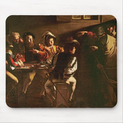The Calling of St. Matthew, c.1598-1601 Mouse Pads