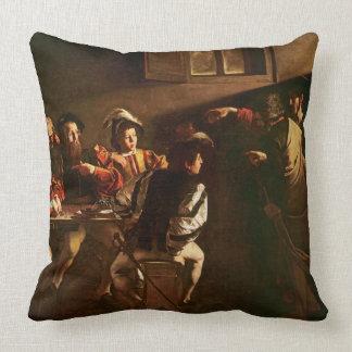 The Calling of St. Matthew, c.1598-1601 Throw Pillow