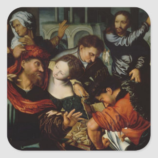 The Calling of St. Matthew Square Stickers