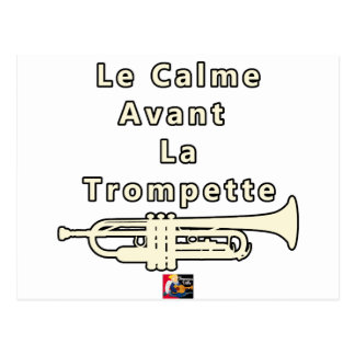 The Calm one before the Trumpet - Word games Postcard