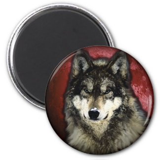 The Calm Wolf Refrigerator Magnets