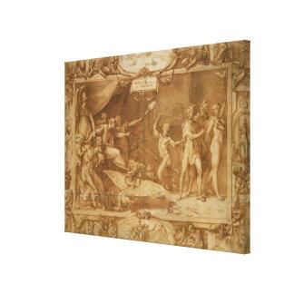 The Calumny of Apelles, 1572 Canvas Print