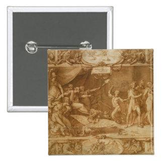 The Calumny of Apelles, 1572 Pinback Button
