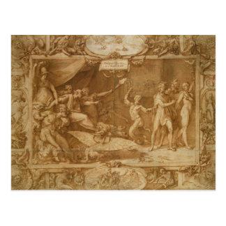The Calumny of Apelles, 1572 Postcard