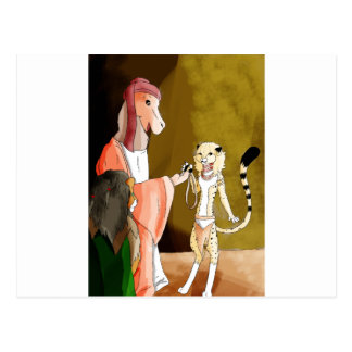 The Camel and the Cheetah Postcard