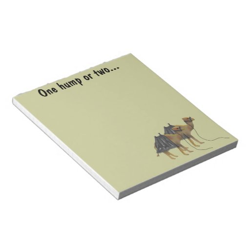 The Camel Hump Notepads