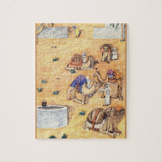The Camel Safari At Rest Jigsaw Puzzle