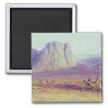 The Camel Train, Condessi, Mount Sinai, 1848 2 Inch Square Magnet
