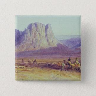 The Camel Train, Condessi, Mount Sinai, 1848 Pinback Button