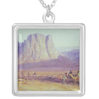 The Camel Train, Condessi, Mount Sinai, 1848 Silver Plated Necklace
