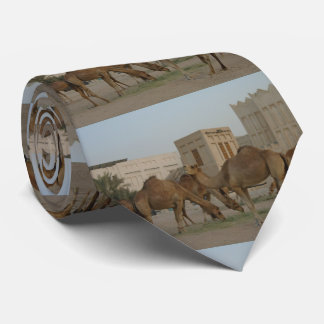 the camels of souq  waqif no1 neck tie