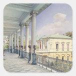 The Cameron Gallery at Tsarskoye Selo, 1859 Square Sticker