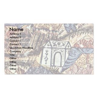 The Camp (04 Maqamat) By Irakischer Maler Um 1230 Business Cards