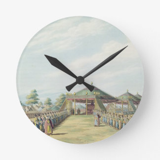The Camp at Daud-Pascia, pub. by William Watts, 18 Round Wall Clock