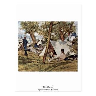 The Camp By Giovanni Fattori Postcard