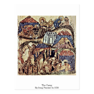The Camp By Iraqi Painter In 1230 Postcard
