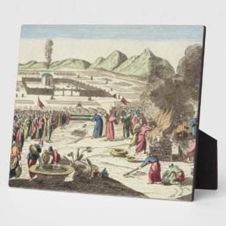 The camp of the Israelites and the sacrifice of th Plaque