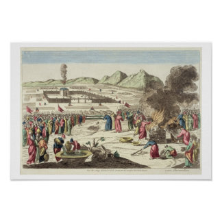 The camp of the Israelites and the sacrifice of th Poster
