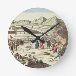 The camp of the Israelites and the sacrifice of th Round Clock