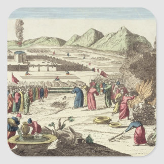 The camp of the Israelites and the sacrifice of th Square Sticker