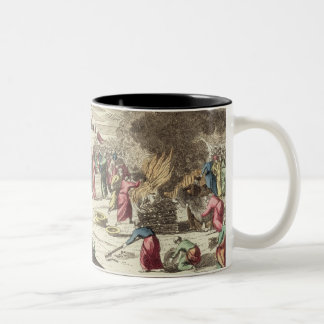 The camp of the Israelites and the sacrifice of th Two-Tone Coffee Mug