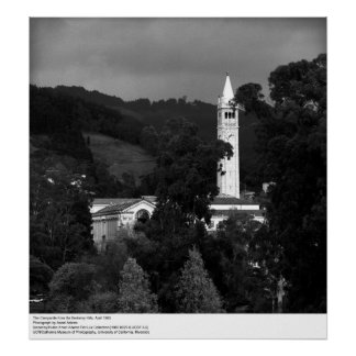 The Campanile from the Berkeley Hills, 1965 Poster