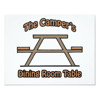 The campers dining room table card