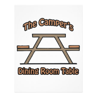 The campers dining room table flyer