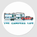 The Campers Life Classic Round Sticker
