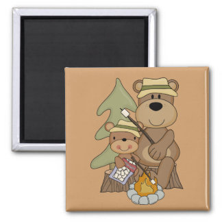 The Campfire Tshirts and Gifts 2 Inch Square Magnet