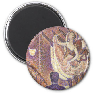 The Can Can Dance, Le Chahut by Georges Seurat 2 Inch Round Magnet