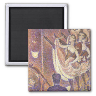 The Can Can Dance, Le Chahut by Georges Seurat 2 Inch Square Magnet