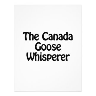 "the canada goose whisperer 8.5"" x 11"" flyer"