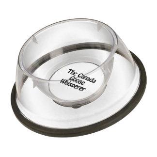 the canada goose whisperer pet bowl