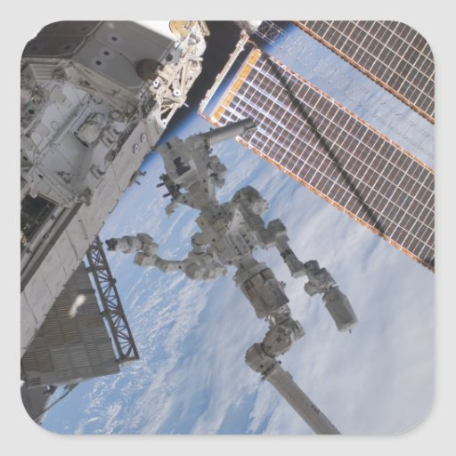 The Canadian-built Dextre robotic system 2 Square Sticker