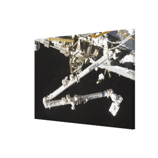 The Canadian-built space station Canvas Print