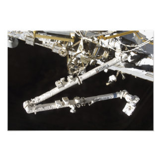 The Canadian-built space station Photo Print