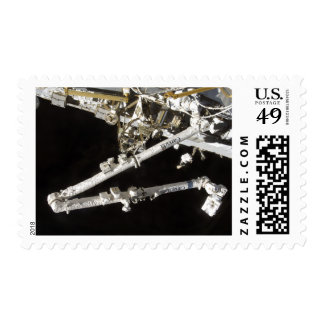 The Canadian-built space station Postage Stamps