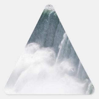 The Canadian Falls or Horseshoe Falls at Niagara F Triangle Sticker