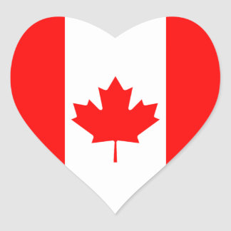 The Canadian Flag, Canada Heart Sticker