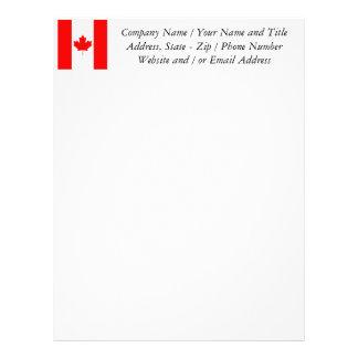 The Canadian Flag, Canada Letterhead