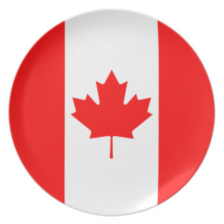 The Canadian Flag, Canada Party Plate