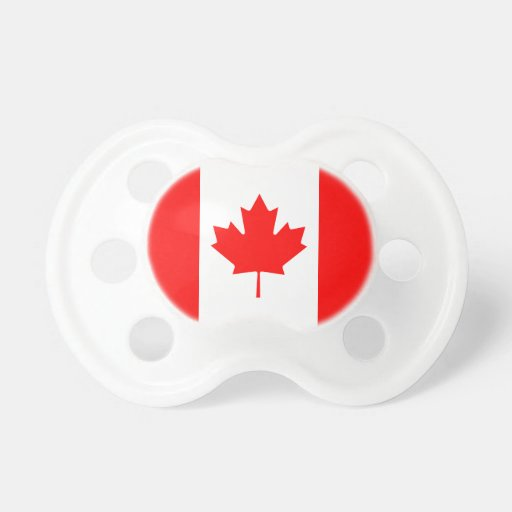 The Canadian Flag - Canada Souvenir Baby Pacifiers