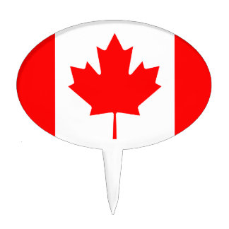 The Canadian Flag - Canada Souvenir Cake Topper