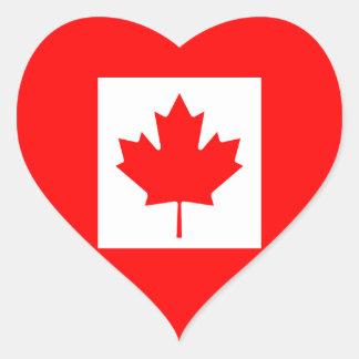 The Canadian Flag - Canada Souvenir Heart Sticker