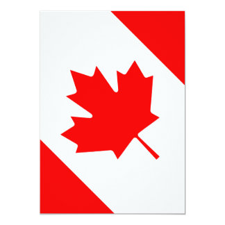 The Canadian Flag - Canada Souvenir 5x7 Paper Invitation Card